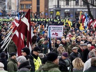 V Rige opäť pochodovali na pamiatku padlých príslušníkov lotyšskej odnože SS