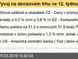 Vývoj na devizovém trhu ve 12. týdnu
