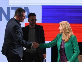Čaputová vníma výhru ako prejav dôvery, Šefčovič obvinil denník