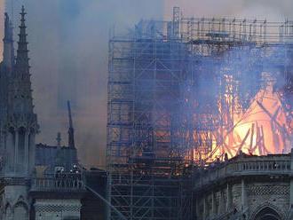 Požiar parížskej katedrály Notre-Dame zasiahol aj interiér
