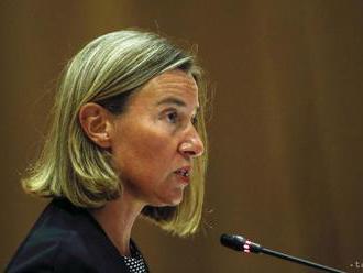 Mogheriniová vyzvala EÚ vyslať vojnové lode do Stredozemného mora
