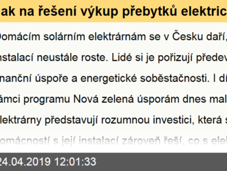 Jak na řešení výkup přebytků elektrické energie z malé domácí FVE