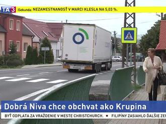 Kamióny v obci nechcú, spustili petíciu za vybudovanie obchvatu