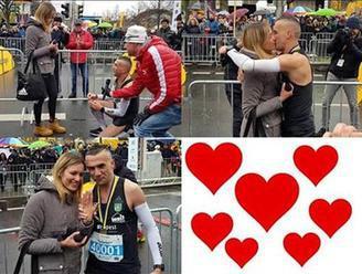 Romantické prekvapenie, ktoré dojalo celý svet: Gabriel si po odbehnutí maratónu kľakol pred priateľ