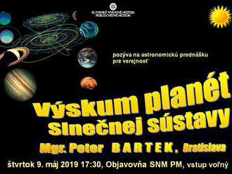Prednáška: Výskum planét Slnečnej sústavy