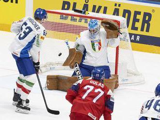 Česko – Taliansko 8:0 v B-skupine, na šance 20:5