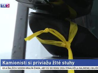 Kamionisti si priviažu žlté stuhy, chcú upozorniť na náročnosť ich povolania