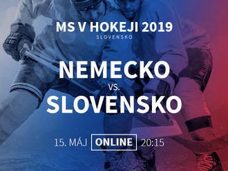 Nemecko - Slovensko: Online prenos z MS v hokeji 2019