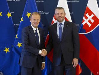 Pellegrini sa na úrade vlády stretol so šéfom Európskej rady D.Tuskom