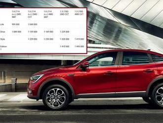 Levné, stylové a vybavené SUV nemusí být z Číny, Renault překvapil cenami Arkany