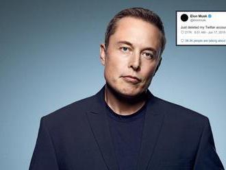 Elon Musk oznámil, že smazal účet na Twitteru, je 67. nejsledovanějším na světě