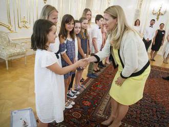 Čaputová gratulovala mladým reportérom, ich záujmom je ekológia