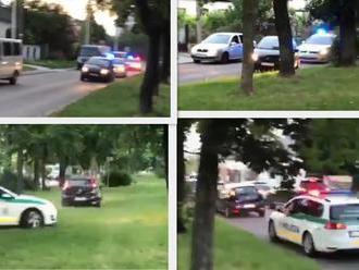 Policajná naháňačka v Bratislave: VIDEO Šialená jazda opitého vodiča! Zazneli aj výstrely