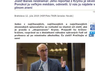 Prečo Banášova reportáž nepatrí do mainstreamových medií? Pretože je slabá