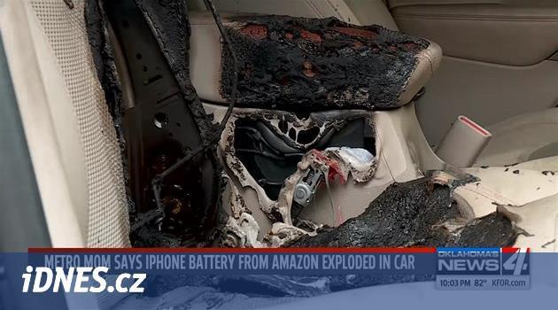 Po explozi iPhonu má zničené auto. Prý kvůli vadné baterii z Amazonu