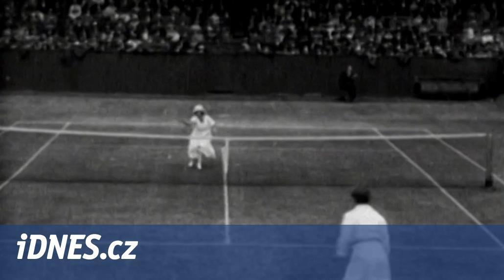 Před 100 lety se na Wimbledonu zrodila první ženská tenisová hvězda