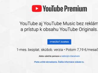 Na Slovensko prichádza platený YouTube bez reklám, aj služba YouTube Music