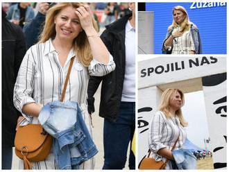 FOTO Čaputová vystúpila na Pohode: Som stále ta istá Zuzana, takto vidí svoje prvé dni prezidentky