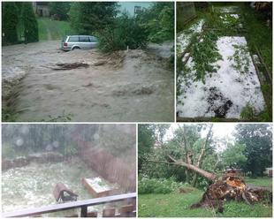 Prívalové povodne ochromili Slovensko: VIDEO Voda a krúpy narobili škody, hasiči v akcii