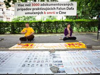 V Bratislave si uctili výročie prenasledovania Falun Gongu, pri ktorom zatkli a mučili milióny ľudí