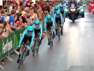 Video: Vuelta sa začala prekvapením, tímová časovka sa stala korisťou Astany