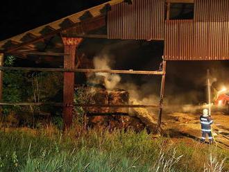 Požár seníku vDráchově způsobil škodu za 40tisíckorun