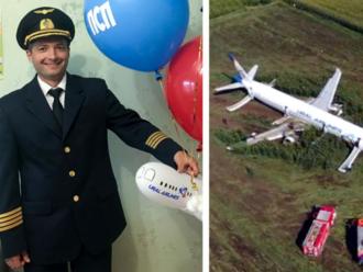 Pilota, čo ukážkovo pristál bez motorov a podvozku v kukurici, oslavujú ako hrdinu