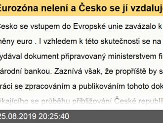 Eurozóna nelení a Česko se jí vzdaluje