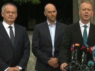 Štyria opoziční lídri: Sme pripravení prevziať zodpovednosť