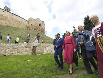 VIDEO: Prezidentka sa na hrade Zborov stretla so zástupcami samospráv