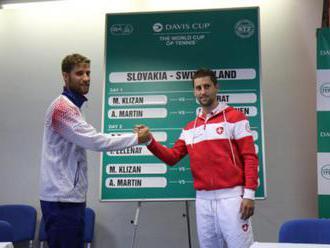 Foto: Daviscupový súboj medzi Slovenskom a Švajčiarskom otvoria Kližan s Ehratom