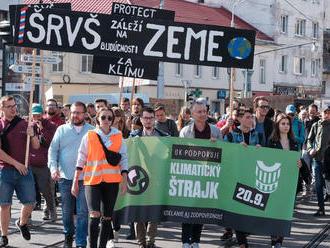 Na Slovensku sa začali klimatické štrajky za budúcnosť všetkých