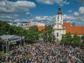 Súčasťou programu Národný pochod za život bol aj futbalový zápas v Trnávke
