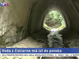 Voda z čistiarne má ísť do Kyjovského potoka, obyvatelia majú obavy