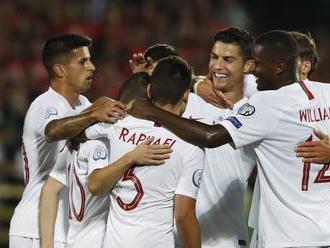 Ronaldo dal Litve štyri góly, Sterling režíroval výhru Anglicka nad Kosovom