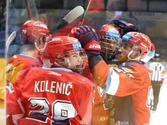 Zvolen pokoril Košice 5:3 v dohrávke 1. kola Tipos extraligy
