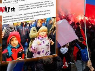Včerajší protest má ďalšiu dohru: Polícia pátra po deťoch na FOTO, skandovali vulgarizmy do megafónu