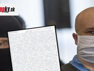 Ďalší LIST od Andruskóa! Sťažuje sa na prokurátora Turana: Beriem to ako vydieranie