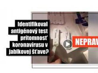 HOAX: Video nedokazuje, že antigénový test na COVID-19 odhalil vírus v džúse