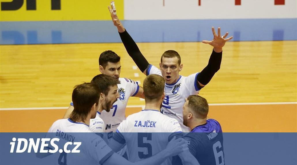 Volejbalisté Kladna po vydřené výhře v Ostravě dál drží šesté místo
