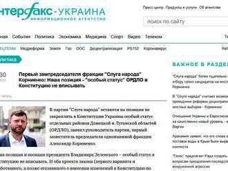 Ukrajinský prezident odmieta udelenie osobitného štatútu Donbasu