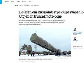 Nórsko ma obavy z vývoja ruských zbraní a čínskych digitálnych technológií