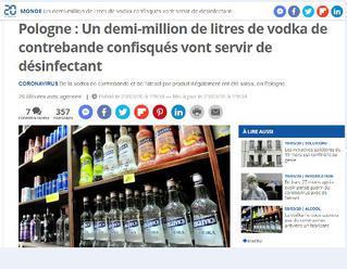 V Poľsku vynašli ďalší spôsob využitia alkoholu. Poslali ho na predné línie boja proti koronavírusu