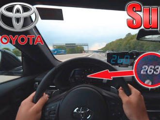 Nová Toyota Supra ukazuje svoju silu na Autobahne