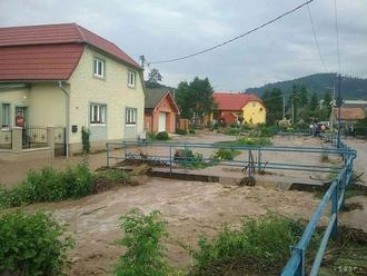 V Nižnom Čaji v okrese Košice-okolie vyhlásili tretí stupeň povodňovej