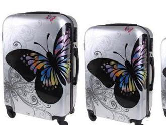 Sada 3 škrupinových kufrov   s kódovými zámkami.