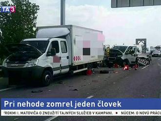 Na diaľnici D2 došlo k tragickej nehode, hlásia obeť