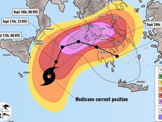 Na Grécko sa rúti stredomorský hurikán. Môže byť najsilnejší v histórii