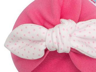 Dievčenská čiapočka turban New Baby For Girls dots. Príjemná na dotyk a krásne sedí na hlavičke.