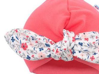 Dievčenská čiapočka turban New Baby For Girls. Príjemná na dotyk a krásne sedí na hlavičke.